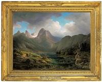 der hintersee bey berchtesgaden by emil heilmair