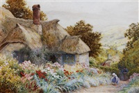 cottage at selworthy near minehead by arthur claude strachan