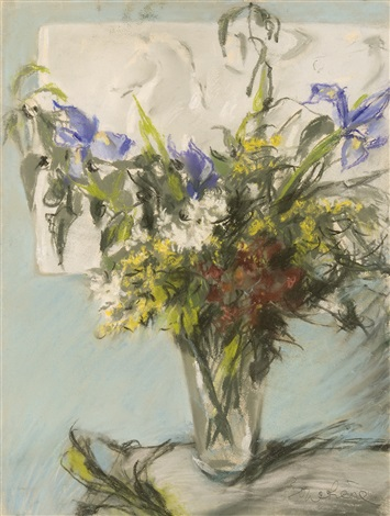 bouquet with irises by dimitri bouchene