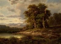 paisaje con lago by lluis rigalt farriols