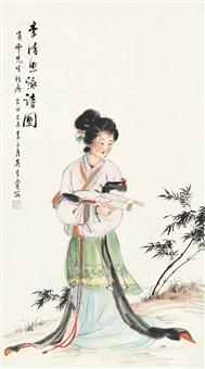 李清照咏诗图 by wu qingxia