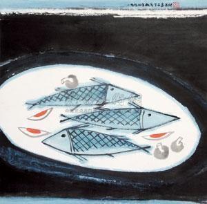 鱼乐图 by zhou shaohua
