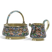 a sugar bowl and a cream jug (various sizes; set of 2) by nikolai zverev
