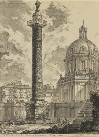 colonna trajana from vedute di roma by giovanni battista piranesi