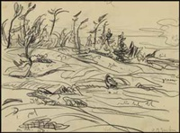 north pine / landscape (verso) by alexander young jackson