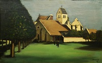a village church by robert humblot
