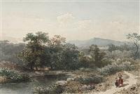 südliche landschaft mit bachlauf by august weber