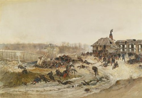 le four a chaux study for the panorama of the battle of champigny by alphonse marie de neuville