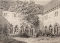 kreuzgang des klosters bad wimpfen by caspar obach