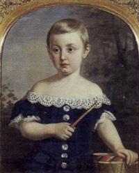 portræt af kammerherre greve axel pontus von rosen som barn by amalia lindegren
