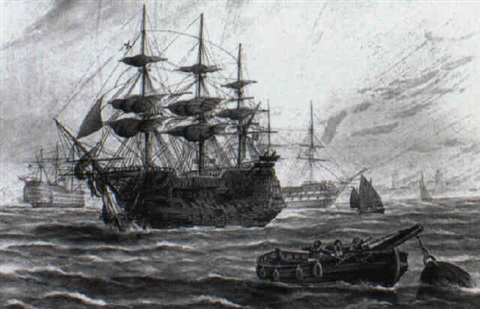 the arrival of the victory at spithead with the body of lord nelson by george frederick gregory