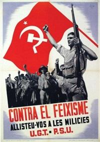 contra el feixisme - allisteu vos a les milices by michel adam