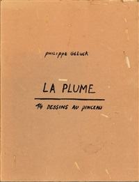 la plume (14 works in one sketchbook) by philippe geluck