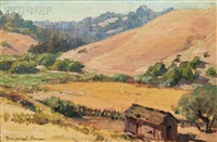 brown hills on the russian river by benjamin chambers brown