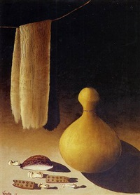 still life with calabash by simon moroke lekgetho