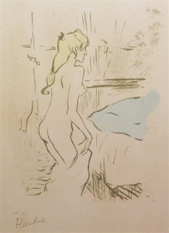 etude de femme and la modiste renee vert 2 works by henri de toulouse lautrec