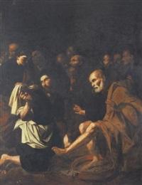 cristo lava i piedi agli apostoli by carlo sellitto