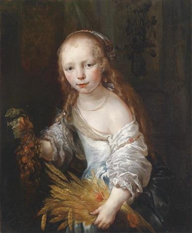 porträt eines jungen mädchens als ceres by jan van noordt