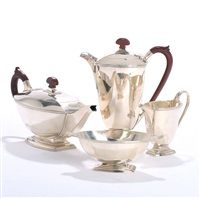 coffee and tea set (set of 4) by adie brothers (co.)