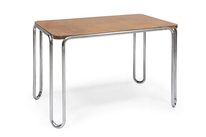 B tavolo scrivania acciaio cromato e piano by marcel breuer on