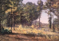 early autumn landscape, brown county by theodore clement steele