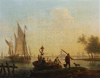 estuary scene by frans swagers