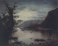 at sunset: (mississippi river valley?) by american school-southern (19)