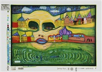 irinaland über dem balkan (from look at it on a rainy day) by friedensreich hundertwasser