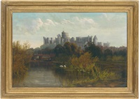 windsor castle from the banks of the thames by allan