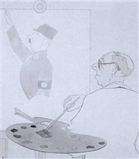 beim portraitieren by karl august arnold