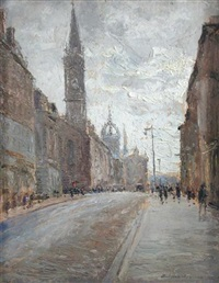 edinburgh high street by piero sansalvadore