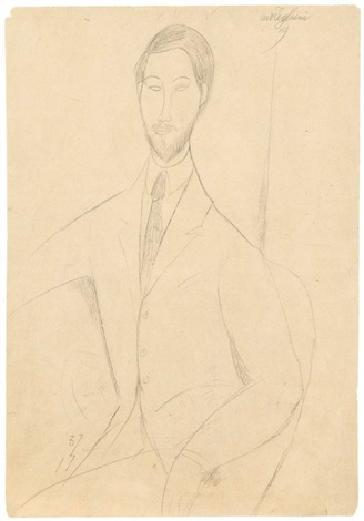 portrait de léopold zborowski by amedeo modigliani