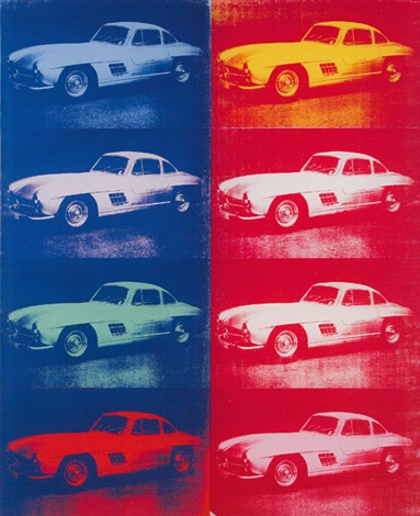 cars mercedes 300 sl by andy warhol