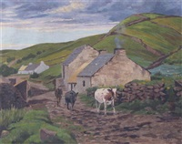 a village street in donegal by arthur radclyffe dugmore