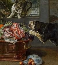 hund und katzen in der speisekammer by paul de vos