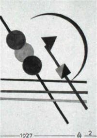 geometrische komposition mit drei kreisen by august agatz