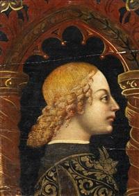 profil eines mannes (+ profil einer frau; 2 works) by italian school-lombardy (15)