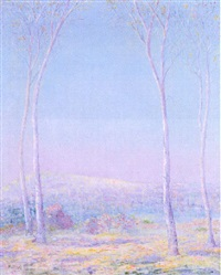 early spring landscape by arthur halow
