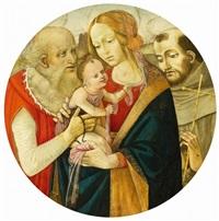 maria mit kind und zwei heiligen (hl hieronymus und hl franziskus) by anonymous-italian (15)