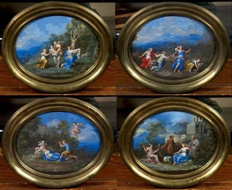 achille chez les filles de lycomède céphale 3 others 4 works by jean cotelle the younger