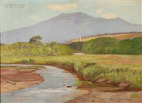 river view with distant hills by daniel santry
