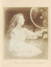 elaine, the lily maid of astolat. fresh water, île de wight by julia margaret cameron