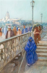 galtea bridge, constantinople by warwick goble