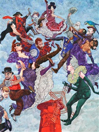 le cabaret des muses, musée de montmarte (poster) by gradimir smudja