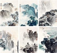 山水 (6 works) by zhao songtao