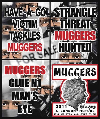 muggers in 4 parts by gilbert and george