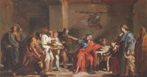 curius dentatus refusing gifts from the samnites by vincenzo camuccini