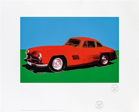 cars mercedes 300 sl gulwing by andy warhol