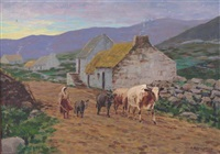 milking time donegal by arthur radclyffe dugmore