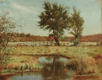 summer landscape by alfred t. ordway